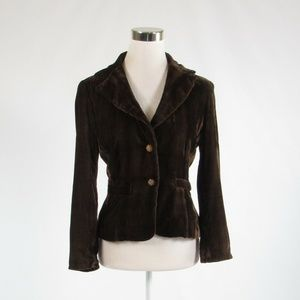 Cache brown velour blazer jacket 4